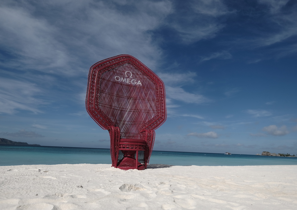 Vito Selma's Red Raina Chair at the Beach Club