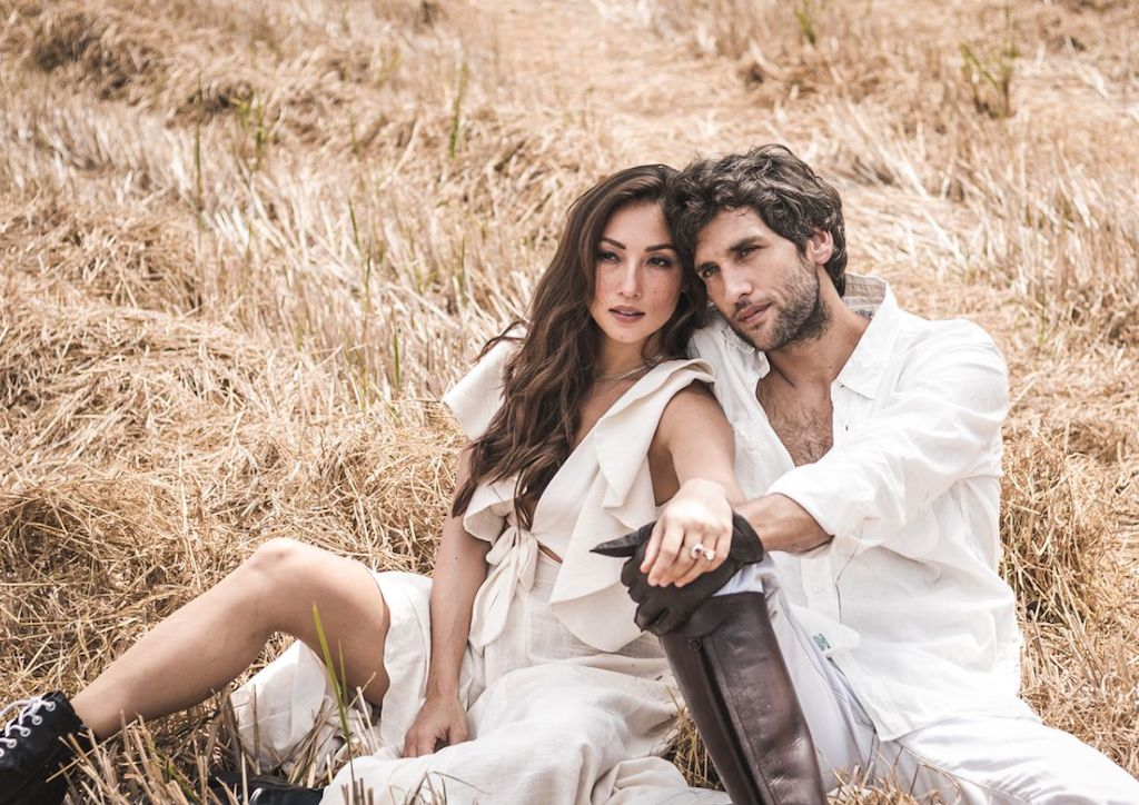 Behind the Scenes photograph of Solenn Heusaff and Nico Bolzico at the Lifestyle Asia May 2018 cover shoot at Big Ben Farm, Pulilan, Bulacan (Photograph courtesy of Floyd Jhocson)