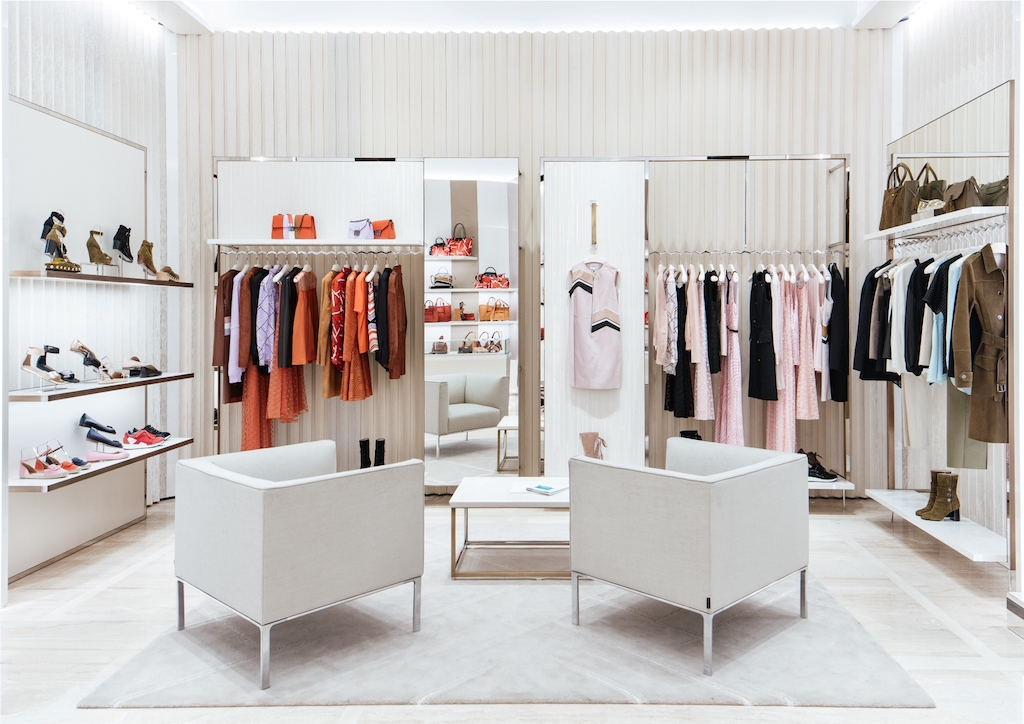 Longchamp's 5th Avenue store carries their Ready to Wear collections