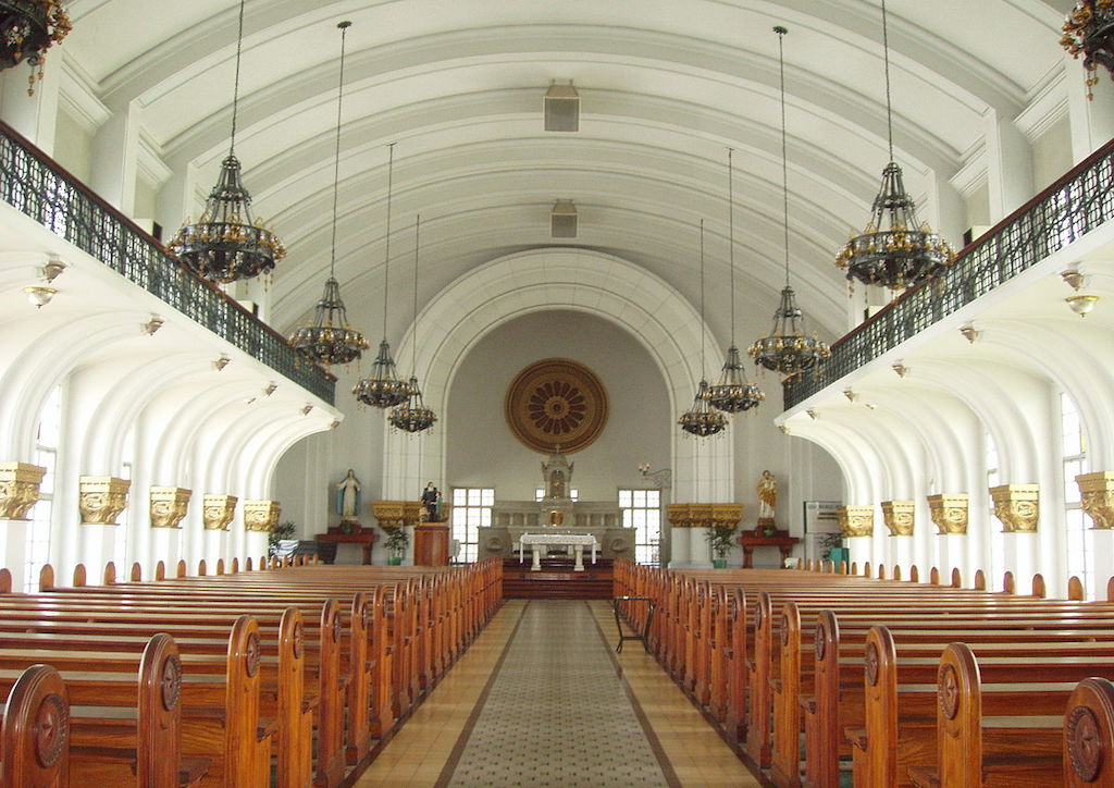 Chapel of the Most Blessed Sacrament was used to massacre many during the Liberation of Manila in the 1940s (Photo courtesy of wikipedia)