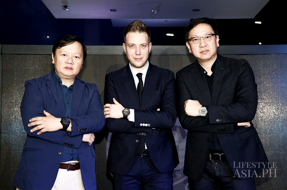 Lucerne's Ivan Yao, Hublot's Loic Biver, Lucerne's Emerson Yao