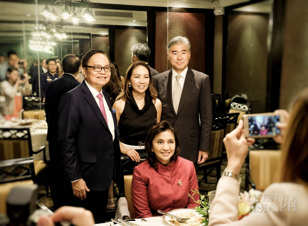 Chito and Anna Sobrepeña, United States of America Ambassador Sung Y. Kim, Vice President of the Philippines Leni Robredo