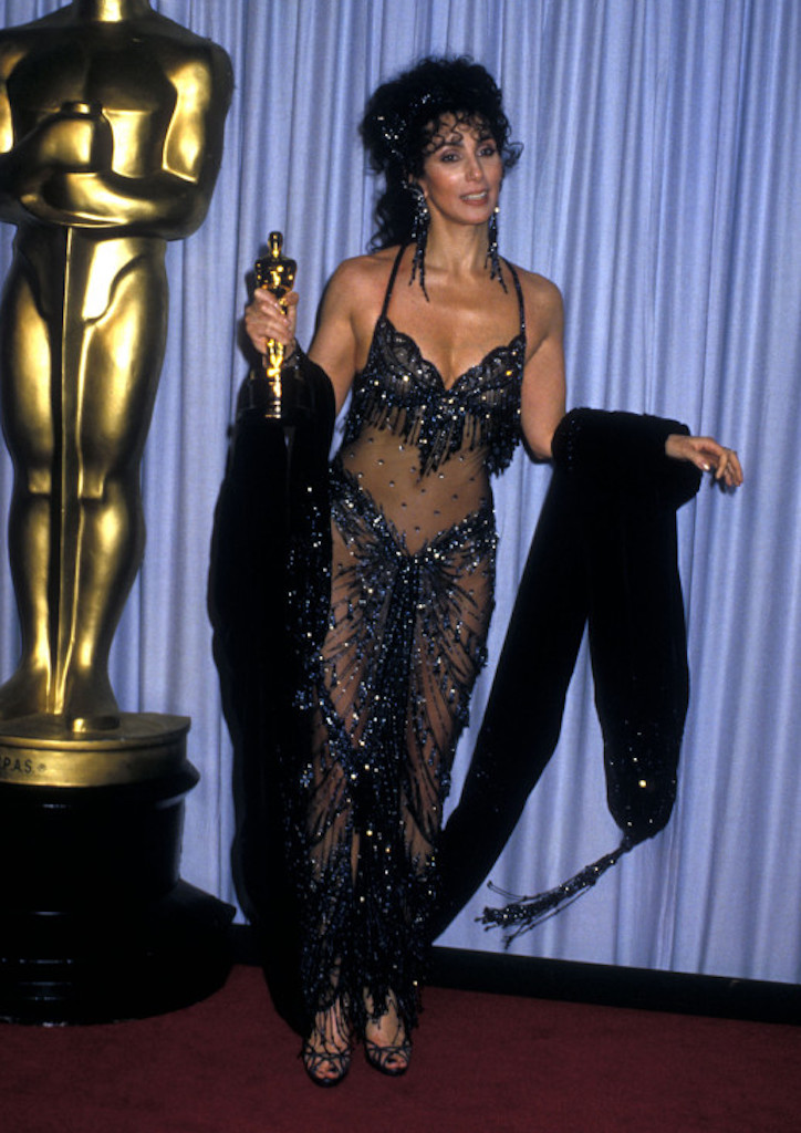 Cher, Moonstruck (1987), gown by Bob Mackie