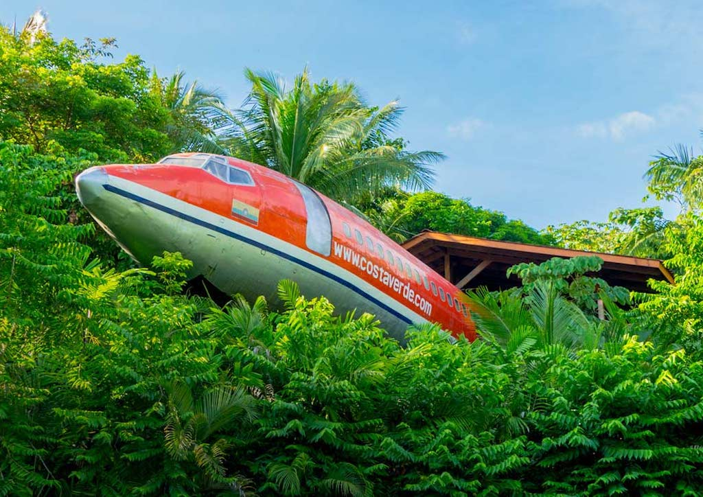 727 Fuselage Home was built inside a vintage 1965 Boeng airplane (Photograph courtesy of Costa Verde Hotel)