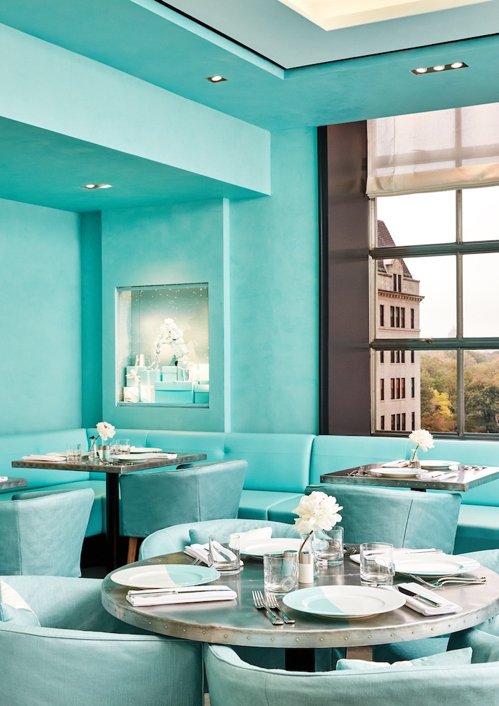 Tiffany Blue® is found in all corners of the new cafe