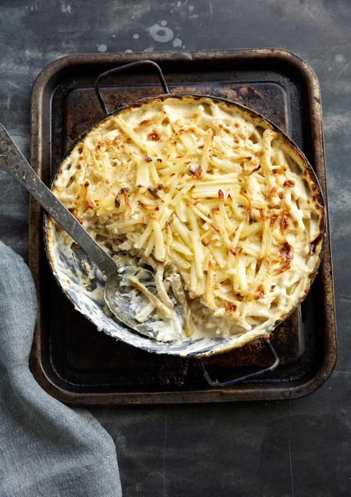 Janssons Temptation is a dish that comprises of creamy potato and fish gratin.