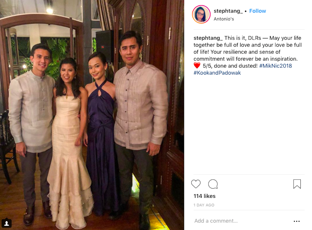 Wedding Day of Nicole Tantoco and Miko de los Reyes. Photograph courtesy of @stephtang_ (Instagram)