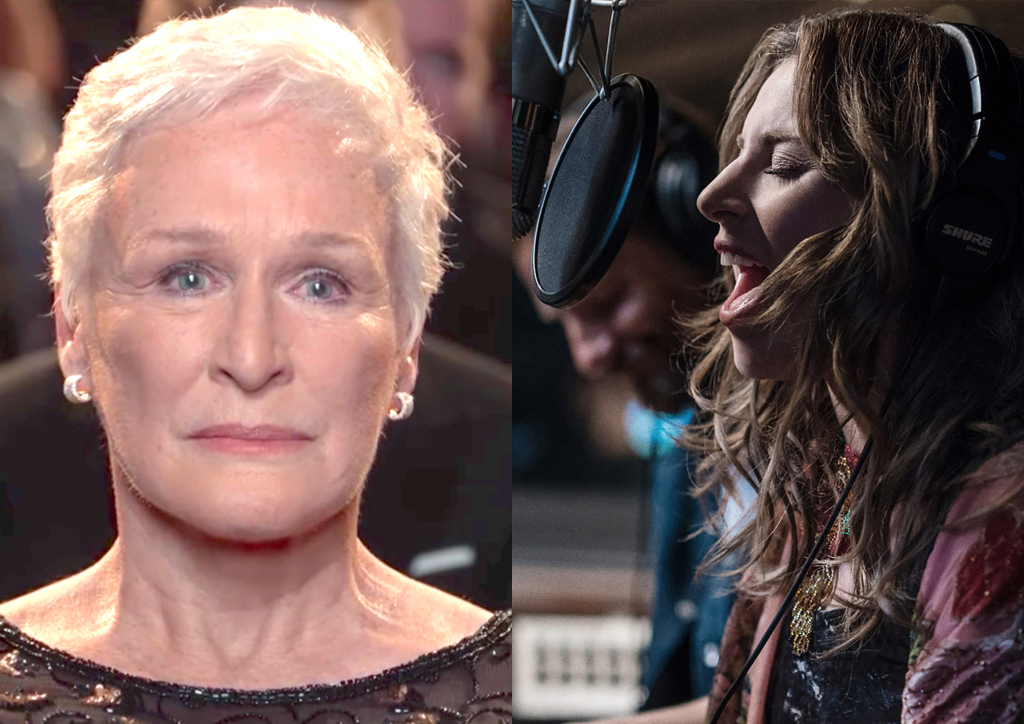 Best Actress is a showdown between the old guard and new film talent Glenn Close and Lady Gaga
