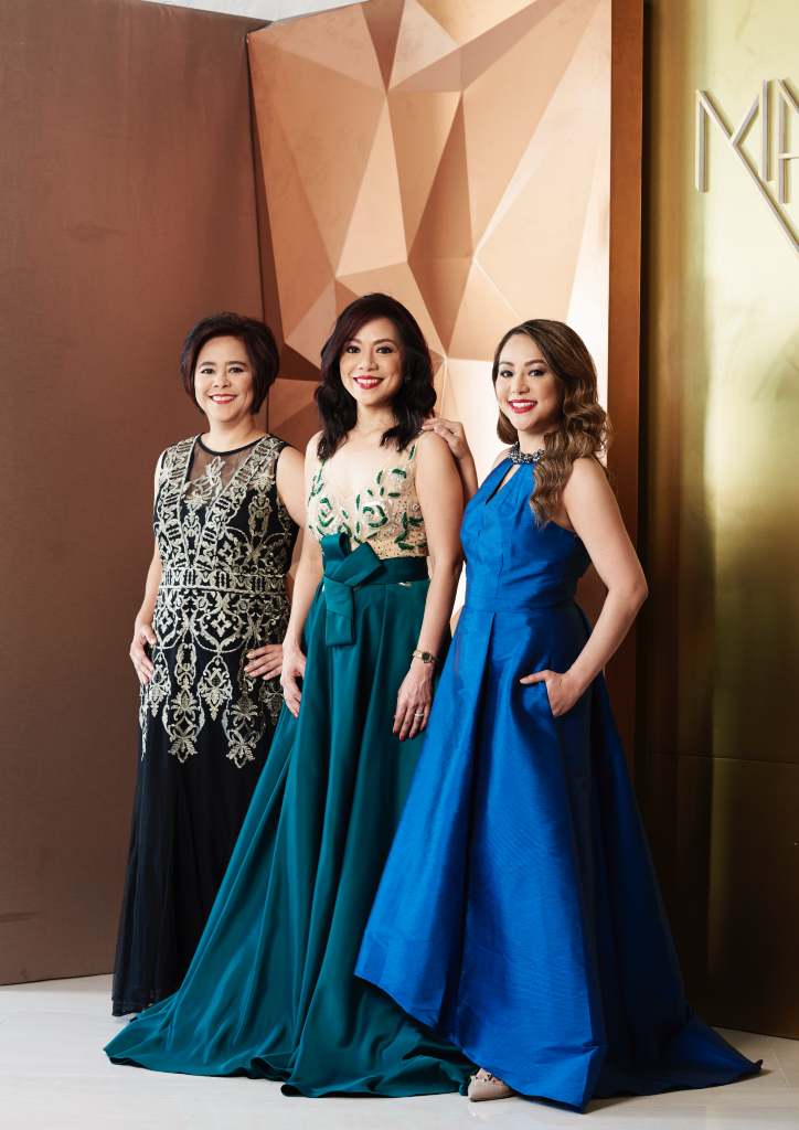 The sisters of Marquis Events Place: Laura Lim-Rodrigo, Lorraine Lim-Aguila and Lorlyn Lim-Almazora (Photograph by Hub Pacheco)