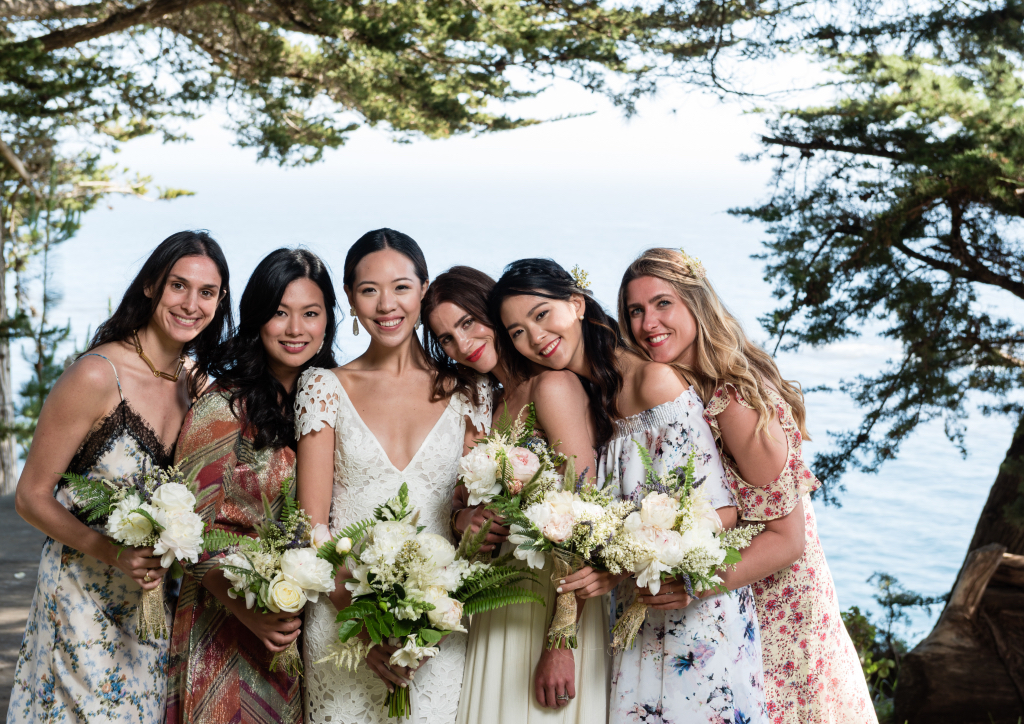 Jordana Fribourg, Thea Jacinto Ugarte, the bride, Cristina Botero, Joanne Chua, Anne François-Poncet (Photograph by Viera Photographics)
