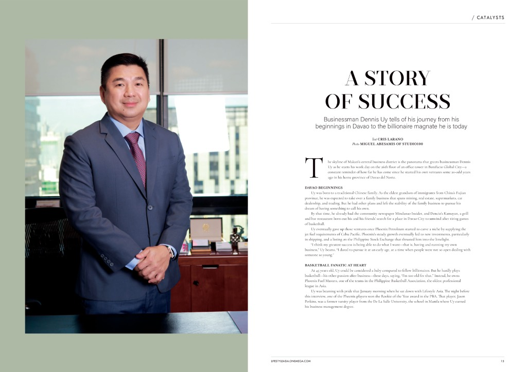 Dennis Uy shares his success story in the new February 2019 edition of Lifestyle Asia