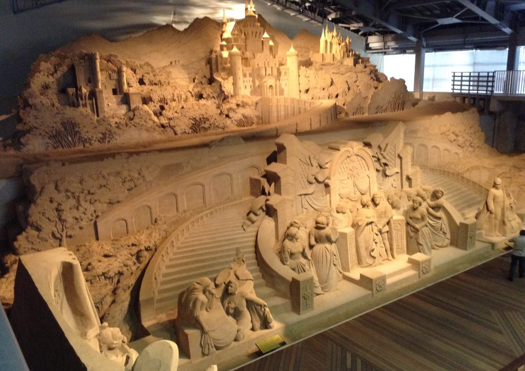 A sculpture at the Tottori Sand Museum