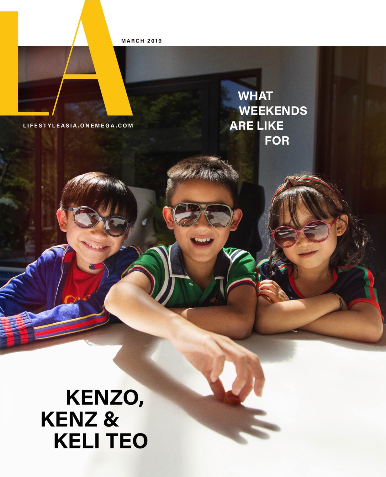 Kenzo, KenZ and Keli Teo for Lifestyle Asia's March Digital Cover (Photograph by Jack Alindahao)